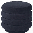 Small Round Pouf in Dark Blue design by Ferm Living