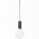 Socket Pendant Low in Dark Green design by Ferm Living