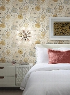 Spontaneity Wallpaper in Metallics from the Culture Club Collection by York Wallcoverings