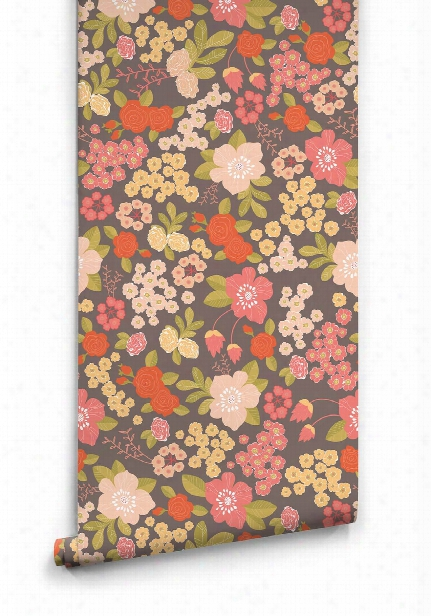 Stormy Bouquet Wallpaper From The Love Mae Collection By Milton & King
