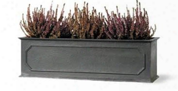 Stuart Window Box In Faux Lead Finish Design By Capital Garden Products