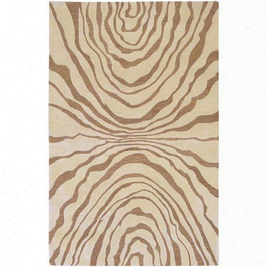 Studio Collection Wool Area Rug In Barley And Brown Sugar Design By Surya