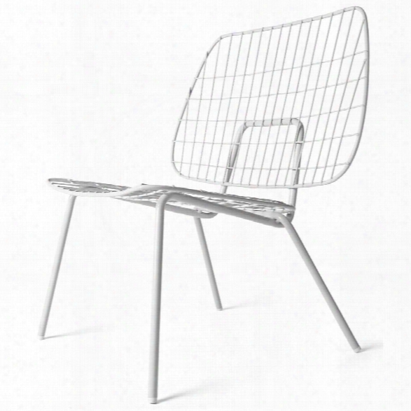 Studio Wm String Lounge Chair In White Design By Menu