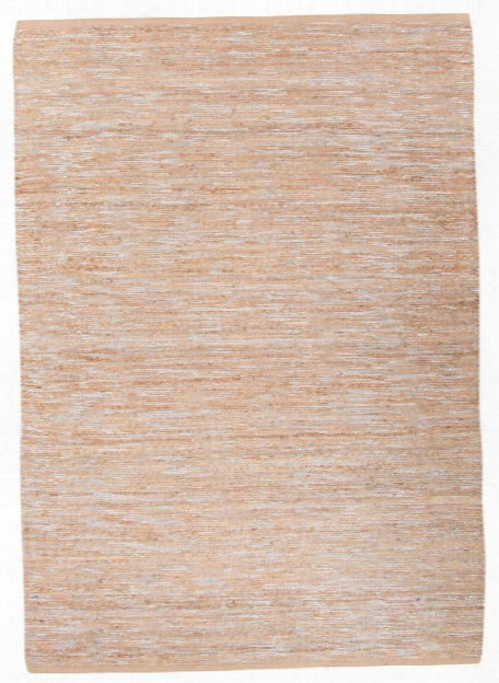 Subra Rug In Almond Buff & Silver Design By Nikki Chu