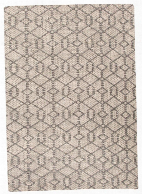 Subra Rug In Charcoal Grey & Bone White Design By Nikki Chu