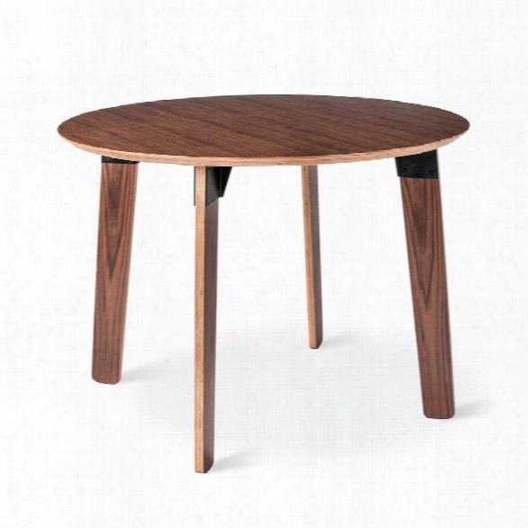 Sudbury Round Dining Table In Walnut Design By Gus Modern