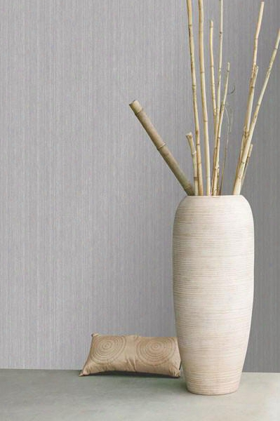 Suelita Striped Wallpaper In Dove Gray Design By Brewster Home Fashions