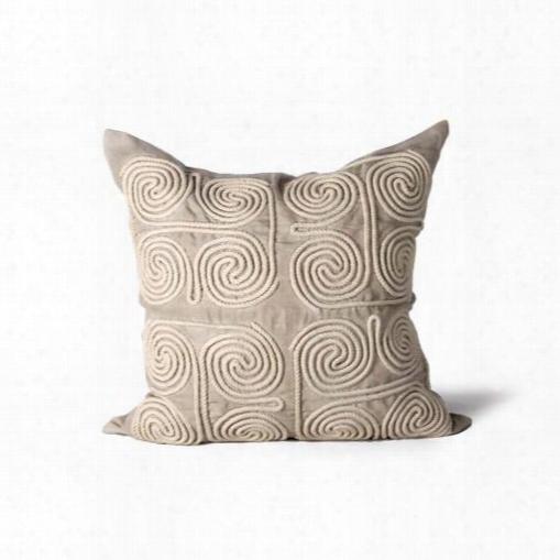 Suez Swirls Pillow In Bone Design By Bliss Studio