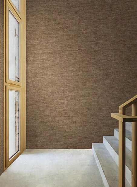 Suiting Wallpaper In Orange And Brown By Ronald Redding For York Wallcoverings