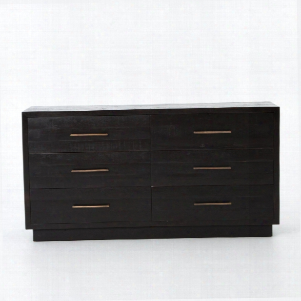 Suki 6 Drawer Dresser In Burnished Black
