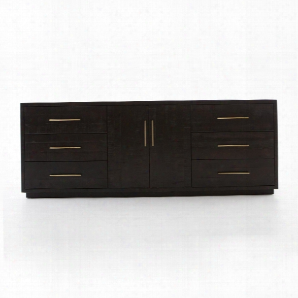Suki Large Media Console In Burnished Black