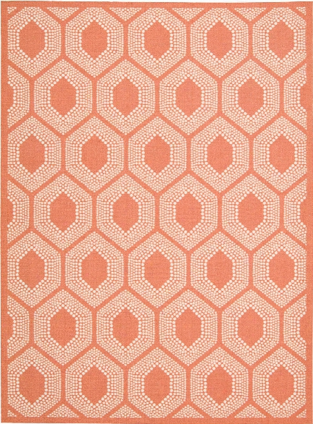 Sun N' Shade Rug In Tangerine Design By Nourison