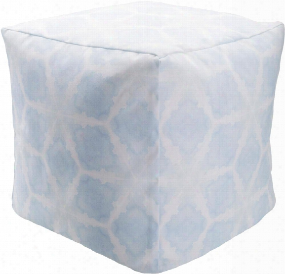 Surya Polyester Pouf In Light Blue Color