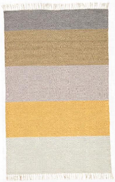 Swane Indoor/ Outdoor Stripe Yellow & Tan Area Rug Design By Jaipur