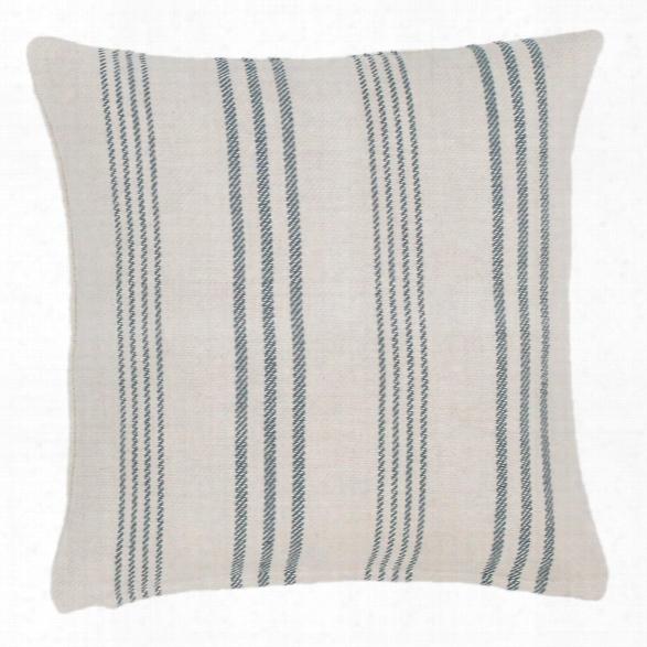 Swedish Stripe Woven Cotton Decorative Pillow Design By Dash & Albert
