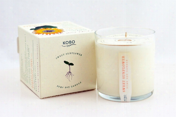 Sweet Sunflower Soy Candle Design By Kobo Candles