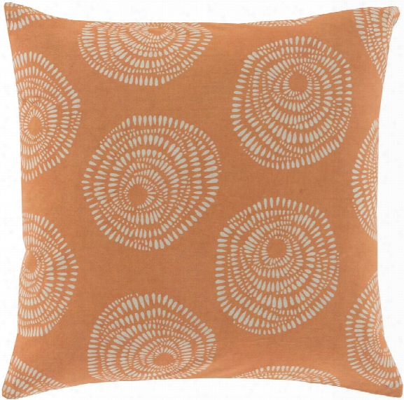 Sylloda Pillow In Coral & Light Grey Design By Lotta Jansdotter