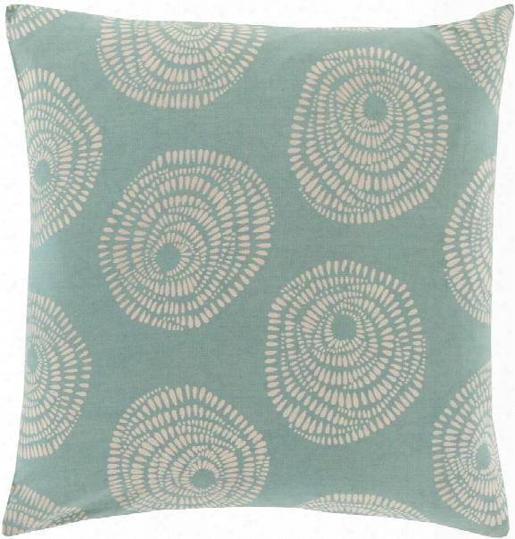 Sylloda Pillow In Teal & Cream Design By Lotta Jansdotter