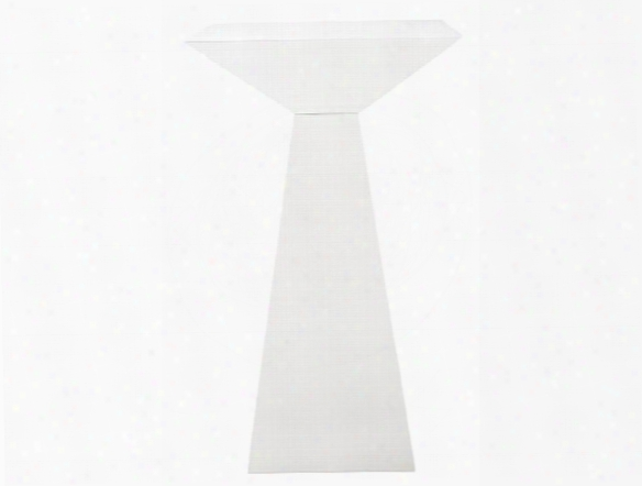 Tad-b Bar Table In White Lacquer Design By Euro Style