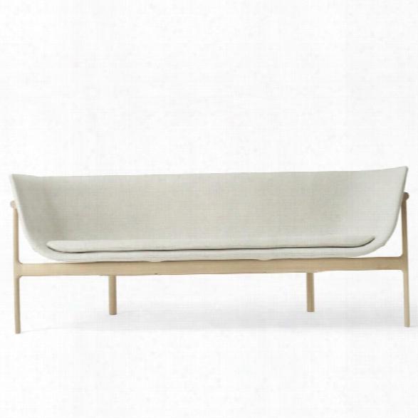 Tailor Lounge Sofa In Natural Oak & Light Grey Melange Design By Menu