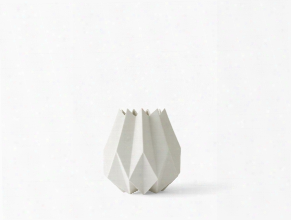 Tall Folded Vase In White Design By Menu