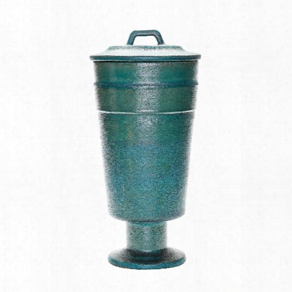 Tall Metallic Patina Vase Design By Lazy Susan