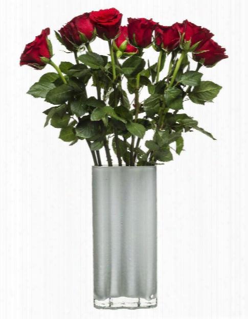 Tall White Siluett Vase Design  By Sagaform