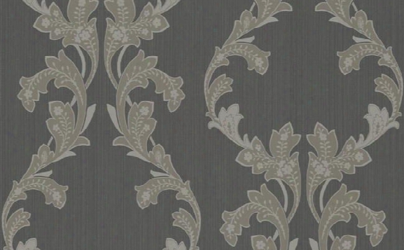 Tangier Ogee Wallpaperr In Neutrals And Metallic Design By Seabrook Wallcoverings