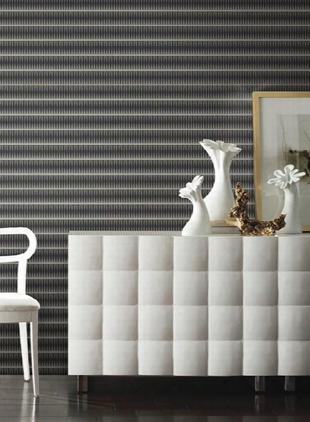 Tangle Wallpaper In Black From The Ashford Wyites Collection By York Wallcoverings
