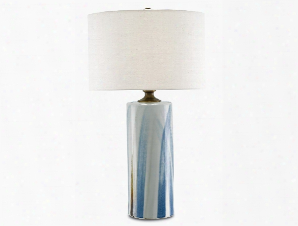 Tao Table Lamp In White & Blue Design By Currey & Company