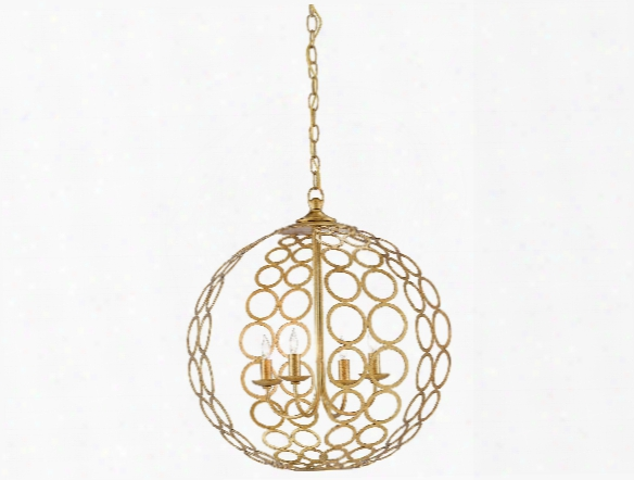 Tartufo Chandelier In Antique Gold Leaf Design By Currey & Company