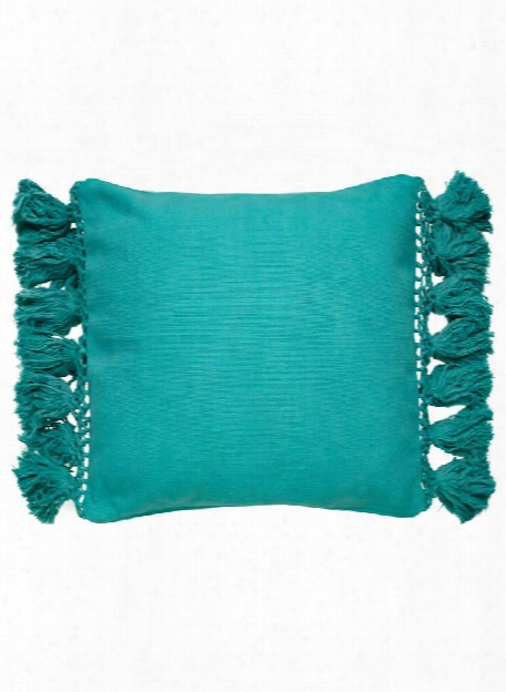 Tassel Yorkville Pillow In Blue Turquoise Design By Kate Spade