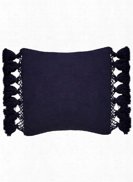 Tassel Yorkville Pillow In Navy Eclipse Design By Kate Spade