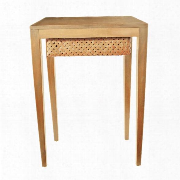 Teak Singer Side Table Design By Lazy Susan