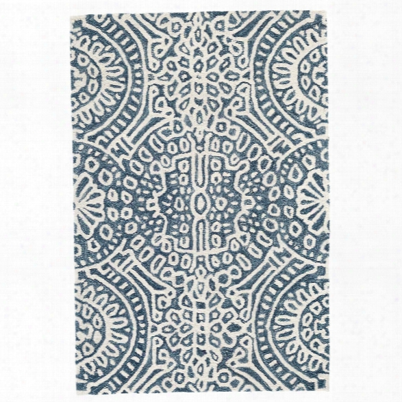 Temple Ink Wool Micro Hooked Rug Design By Dash & Albert