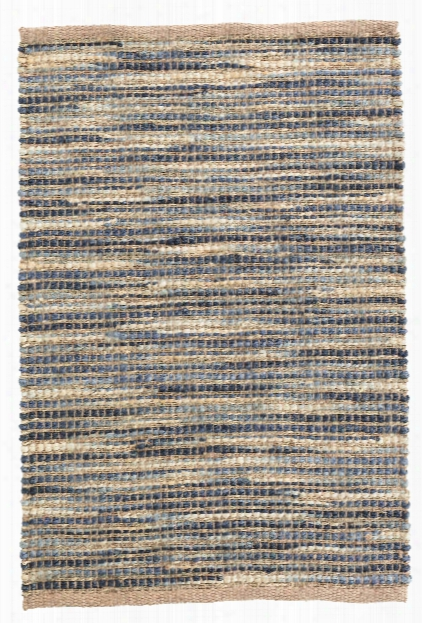 Tenali Blue Woven Jute Rug By Dash Albert
