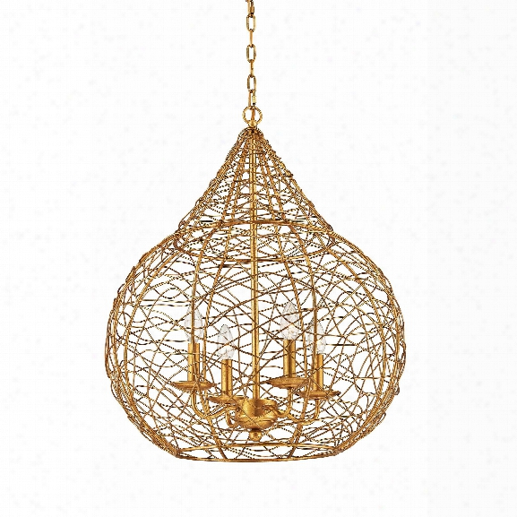 Tendrils Pendant In Gold Leaf Design By Bd Fine
