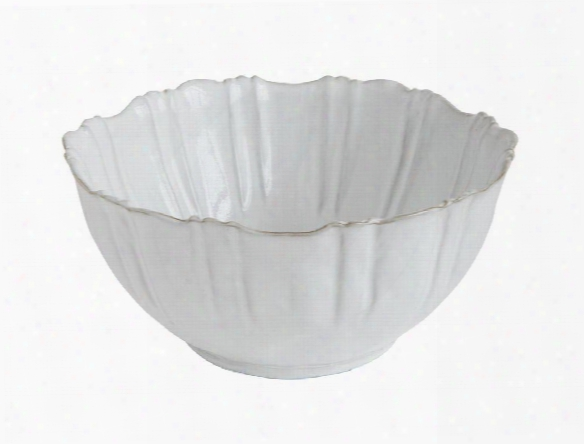 Terra-cotta Fluted Bowl In White Design By Bd Edition