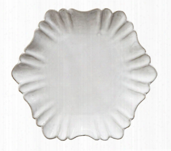 Terra-cotta Scallop Plate In White Design By Bd Edition