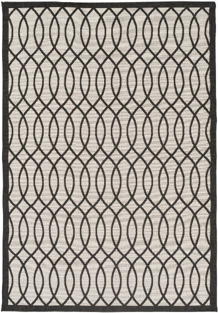 Terrace Outdoor Rug In Black & White Design By Candice Olson