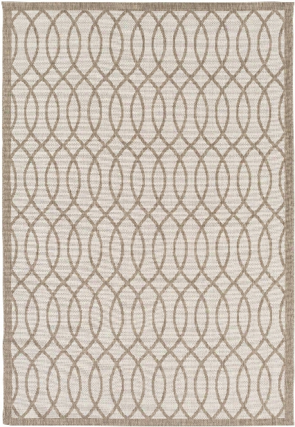 Terrace Outdoor Rug In Camel & White Design By Candice Olson