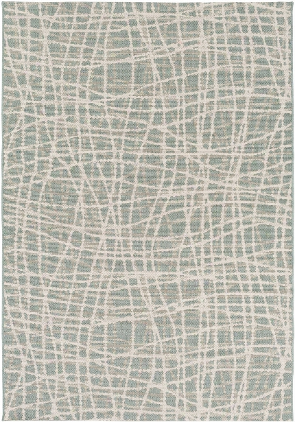 Terrace Outdoor Rug In Sage & White Design By Candice Olson
