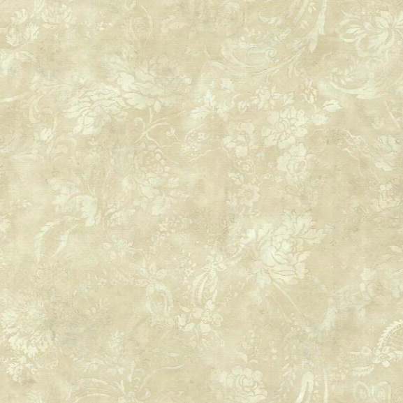 Textured Rose Wallpaper In Beige Design By York Wallcoverings