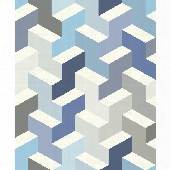 The Right Angle Wallpaper In Blue From The Culture Club Collection By York Wallcoverings
