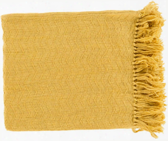 Thelma Throw Blankets In Bright Yellow Color By Surya