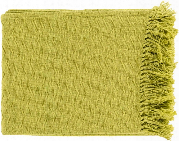 Thelma Throw Blankets In Lime Color By Surya