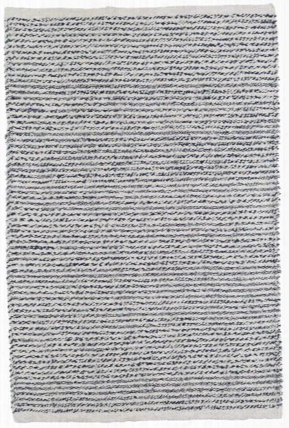 Theo Indigo Woven Cotton Rug By Dash Albert