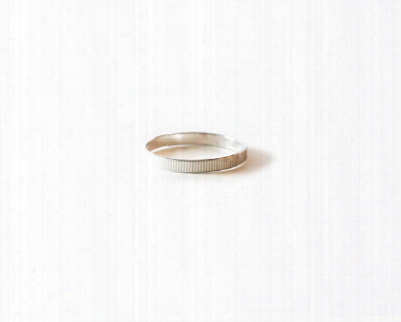 Thick Line Stacker Ring Design By Agapantha
