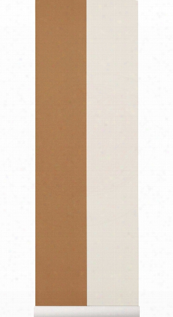 Thick Lines Wallpaper In Mustard & Off White Design By Ferm Living