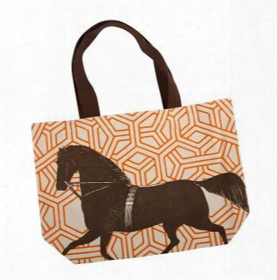 Thoroughbred Tote In Alcazar Design By Thomas Paul